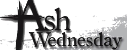 ash wednesday logo-cross