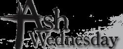ash wednesday logo-cross