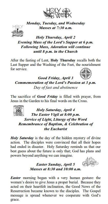 holy week schedule-2015