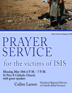 ISIS PRAYER SERVICE FLYER